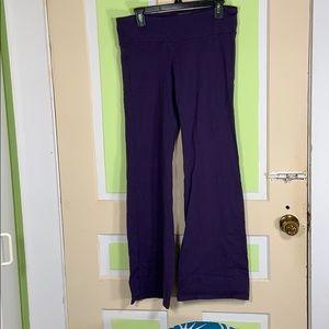 ATHLETA yoga pants grape purple boot cut LARGE